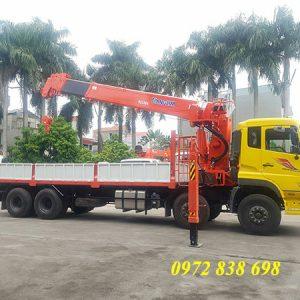 dongfeng 4 chân gắn cẩu 15 tấn kanglim ks5206