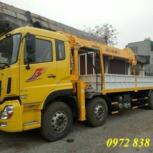 Xe tải Dongfeng 4 chân gắn cẩu Soosan 12 tấn