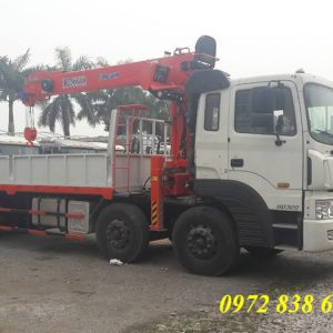 hyundai hd320 gắn cẩu kanglim 7 tấn