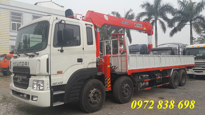 xe tải hyundai hd320 gắn cẩu kanglim 7 tấn