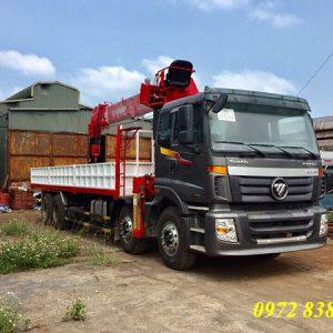 xe tải thaco auman 4 chân gắn cẩu atom 12 tấn