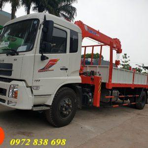 dongfeng b180 gắn cẩu kanglim 5 tấn