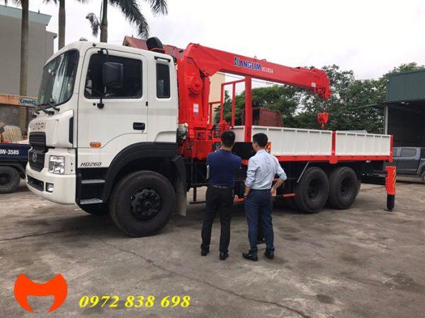 hyundai hd260 gắn cẩu kanglim ks2056