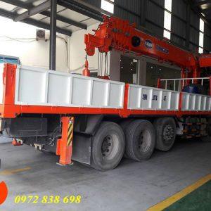 hyundai hd360 gắn cẩu 15 tấn kanglim