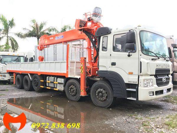 hyundai hd360 gắn cẩu kanglim 15 tấn