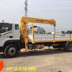 thaco auman c160 gắn cẩu soosan 5 tấn