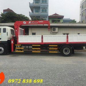 thaco auman c160 gắn cẩu unic 5 tấn urv500