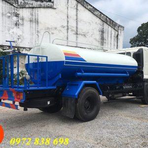 xe phun nước rửa đường hino 9 khối