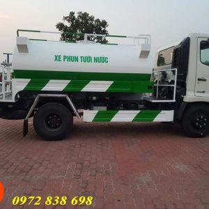 xe phun nước rửa đường tưới cây hino 6 khối