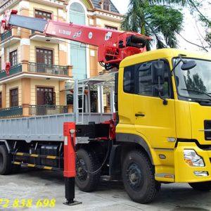 xe tải dongfeng 4 chân gắn cẩu atom 12 tấn