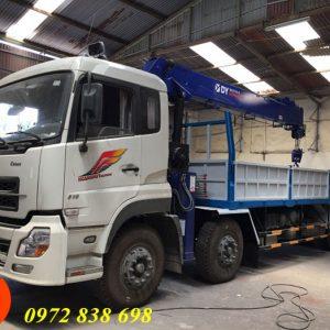 xe tải dongfeng 4 chân gắn cẩu 10 tấn dongyang