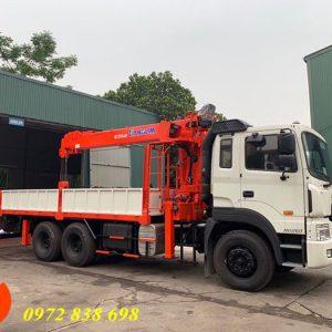 xe tải hyundai hd260 gắn cẩu kanglim 7 tấn