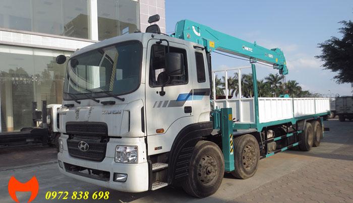 xe tải hyundai hd320 gắn cẩu hktc 10 tấn