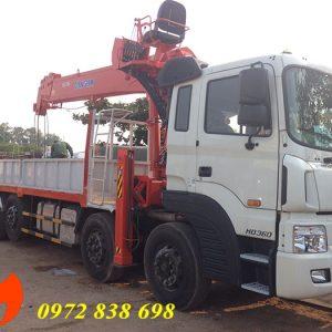 xe tải hyundai hd360 gắn cẩu 15 tấn kanglim ks5206