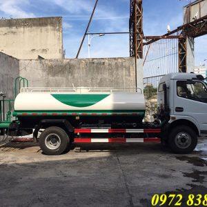 xe téc phun nước rửa đường dongfeng 5 khối