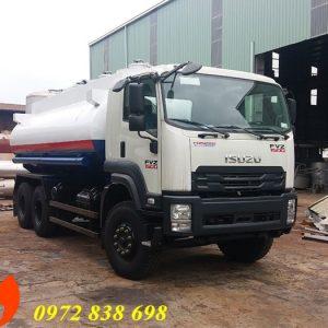xe bồn chở xăng dầu 19 khối isuzu