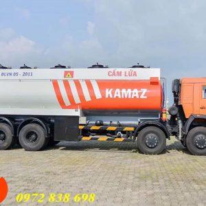 xe bồn chở xăng dầu kamaz 25 khối