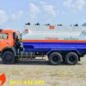 xe bồn xăng dầu 18 khối kamaz
