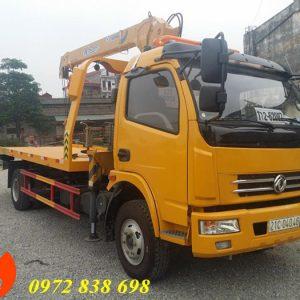 xe cứu hộ dongfeng sàn trượt gắn cẩu xcmg 3 tấn