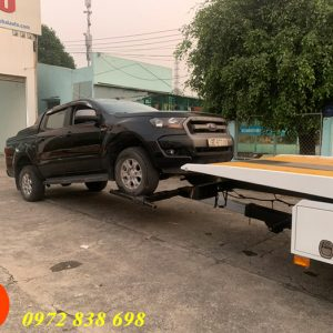 xe cứu hộ sàn trượt fuso 3 tấn