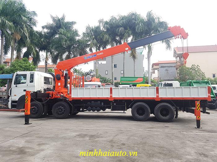 xe hyundai hd320 gắn cẩu kanglim 12 tấn
