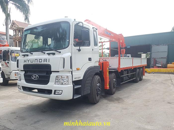 xe tải hyundai hd320 gắn cảu kanglim 12 tấn